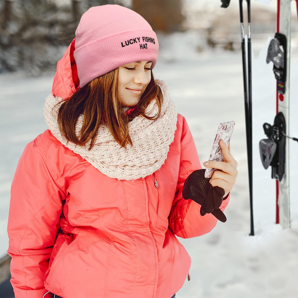 thumbnail 3 - Beanies for Men Lucky Fishing Hat A Embroidery Winter Women Skull Cap